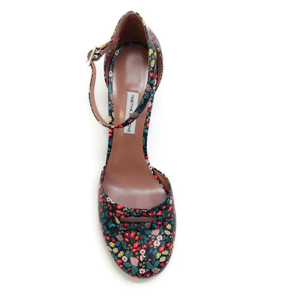 Amelia Multi Floral Sandals by Tabitha Simmons top
