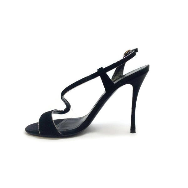 Suede and Glitter Black Sandals by Nicholas Kirkwood inside