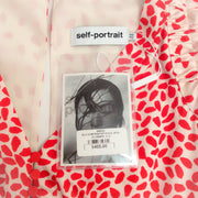 self-portrait Red / White Printed Handkerchief Dress