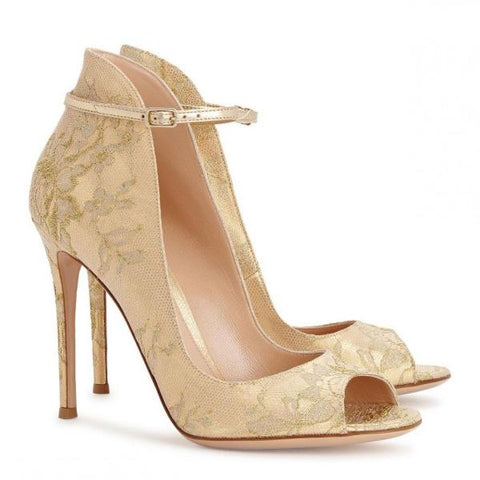 Gianvito Rossi Gold Rioko Pumps
