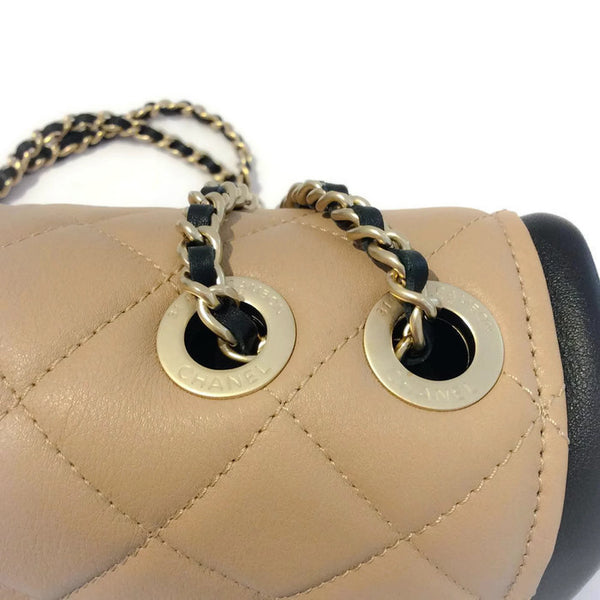 Classic Flap Shoulder Bag Black / Tan by Chanel top