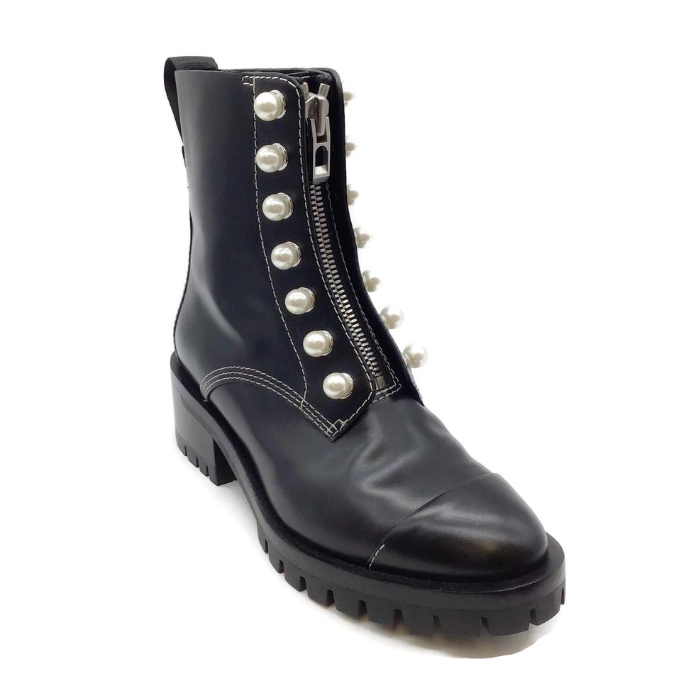 3.1 Phillip Lim Black Leather Hayett Pearl Boots