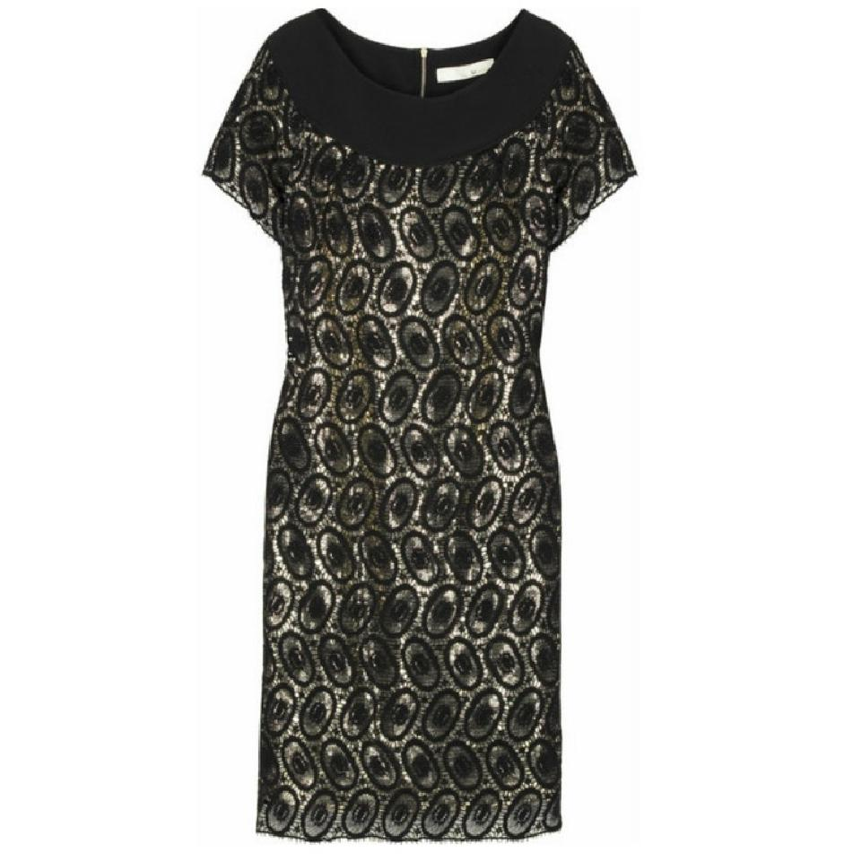 3.1 Phillip Lim Black/Gold Sequins Dress