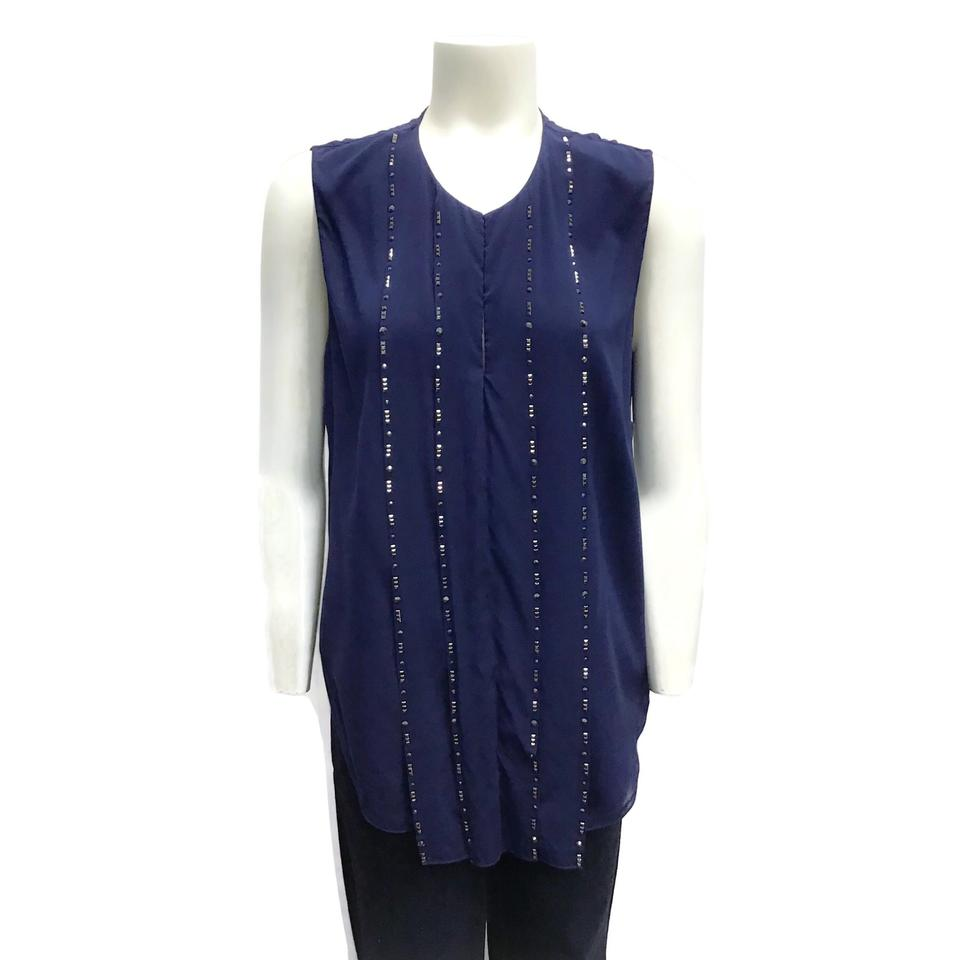 3.1 Phillip Lim Navy Silk Top