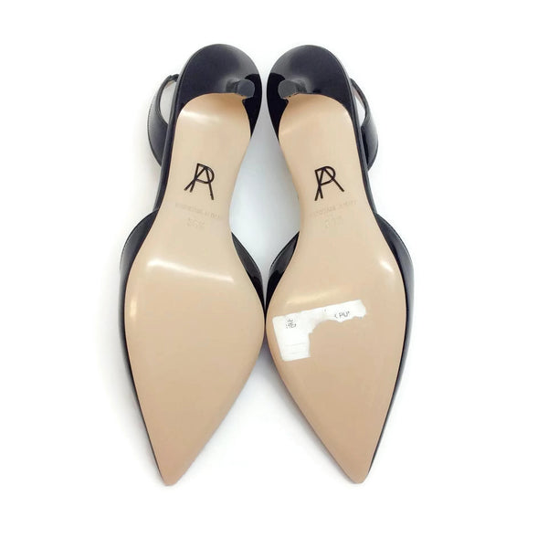 Rhea Black Patent Pumps by Paul Andrew