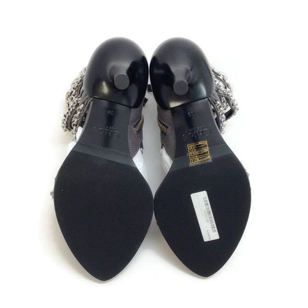 Chloé Pearly Black Victoria Sandals