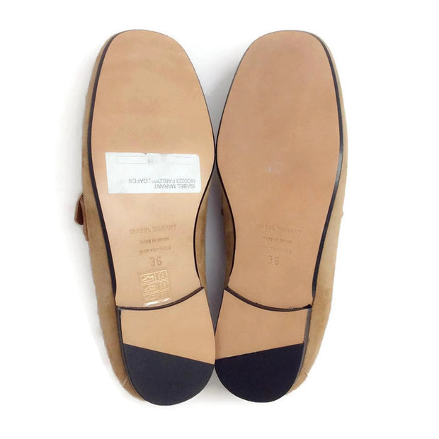 Farlow Suede Camel Loafers by Isabel Marant