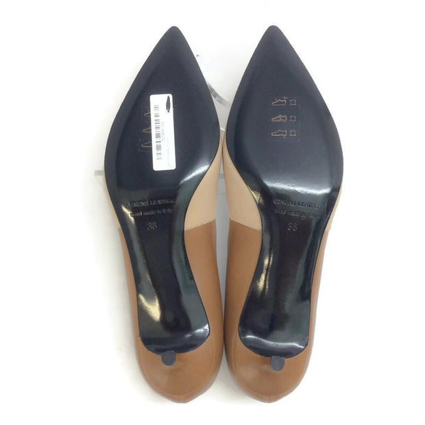 Two-toned Kitten Heel Beige / Camel by Pierre Hardy 36.5