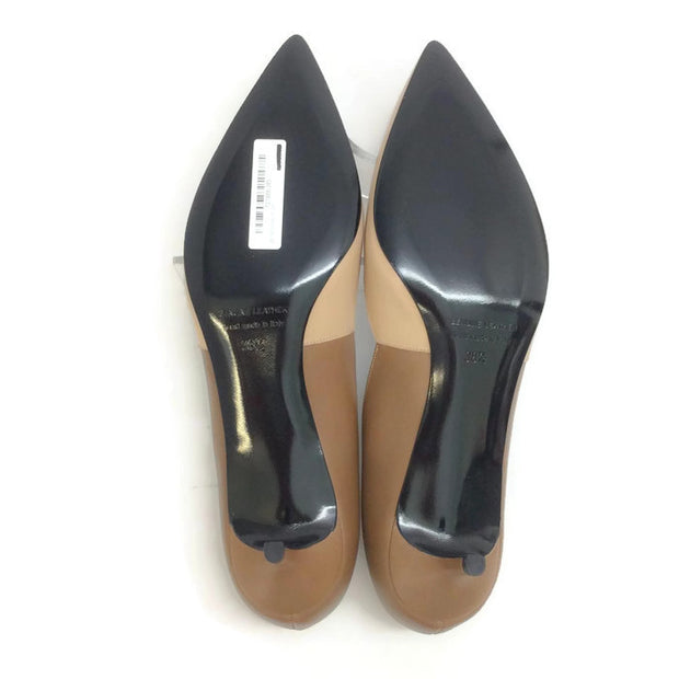 Two-toned Kitten Heel Beige / Camel by Pierre Hardy 38.5