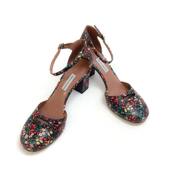 Amelia Multi Floral Sandals by Tabitha Simmons pair