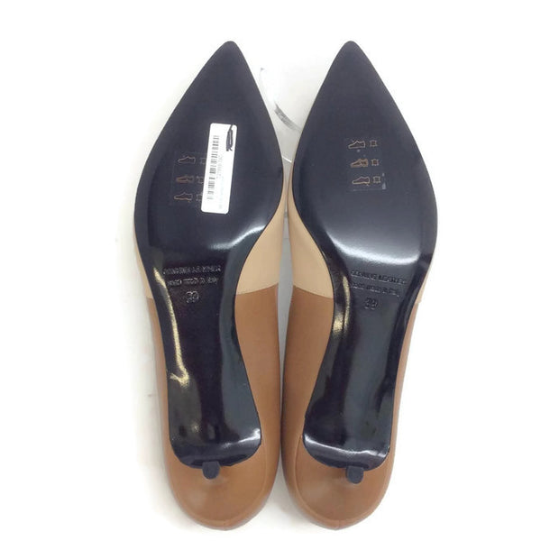 Two-toned Kitten Heel Beige / Camel by Pierre Hardy 39