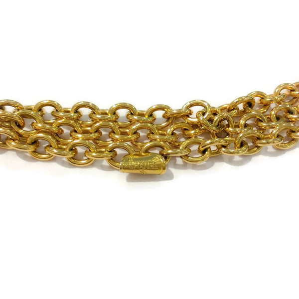 Vintage Gold Chain Handbag Belt by Chanel stamp