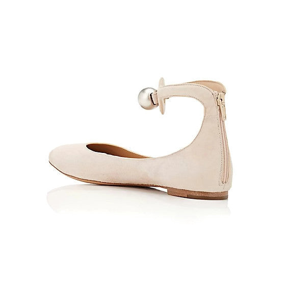 Cream Puff Ballet Flats by Chloe back