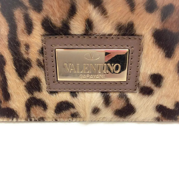 Aphrodite Satchel Pony Hair by Valentino back logo