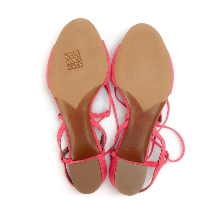 Lori Raspberry Lace Up Sandal by Tabitha Simmons 37.5