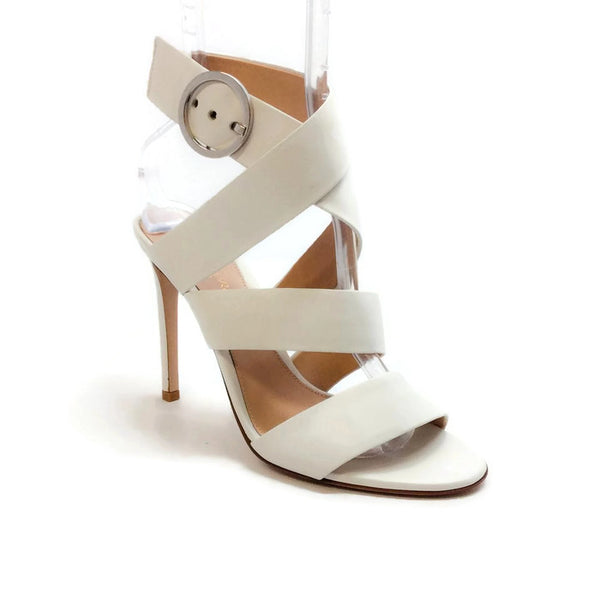 Ankle Wrap Off White Sandals by Gianvito Rossi