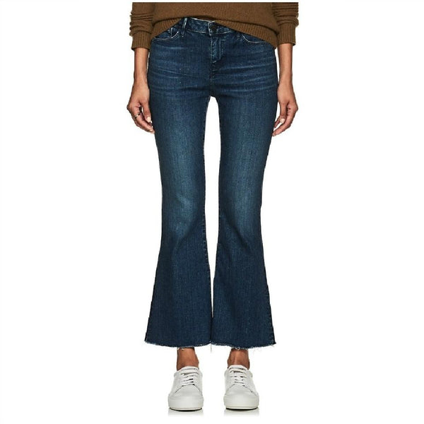 3X1 Dark Blue Rinse Midway Extreme Capri/Cropped Jeans