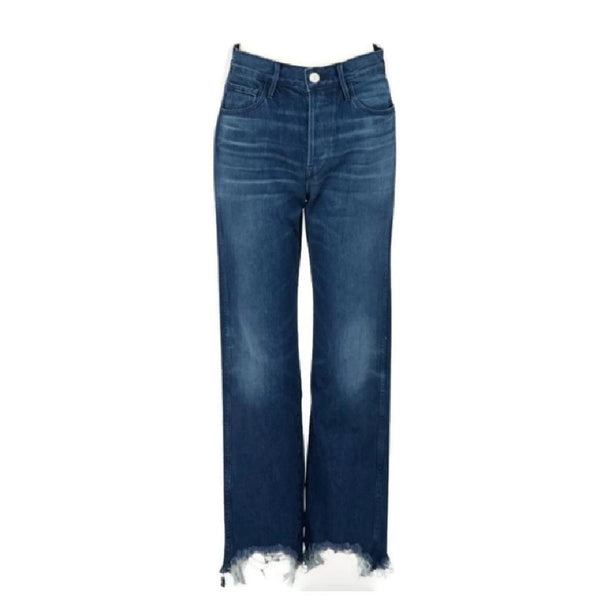 3X1 Deep Blue Medium Wash Shelter Austin Capri/Cropped Jeans