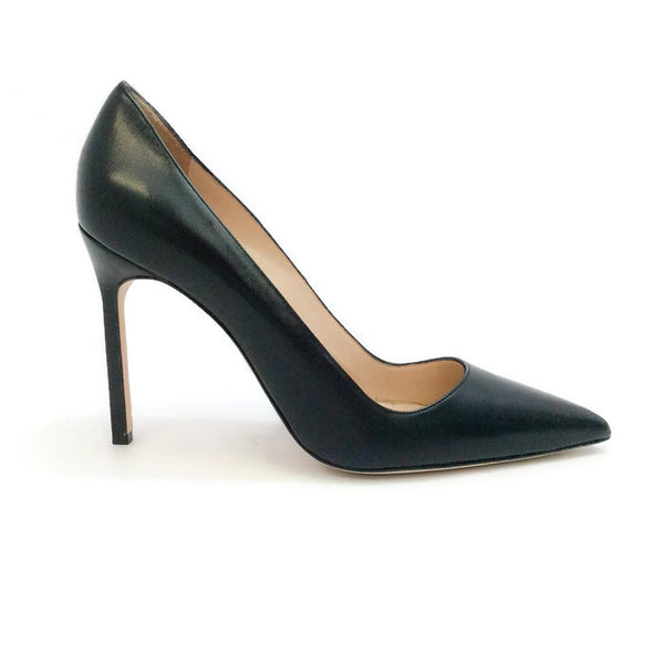 BB 105 Black Pumps by Manolo Blahnik outside