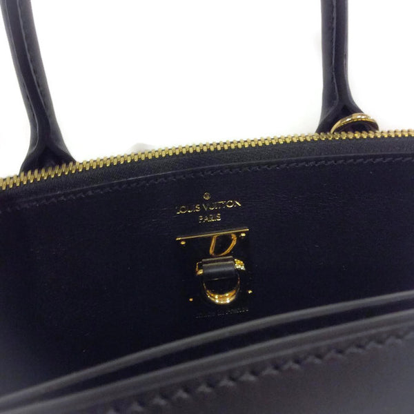 Leather Rivoli Black Satchel by Louis Vuitton interior printing