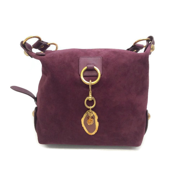 Suede Bucket Bag With Agate by Lanvin
