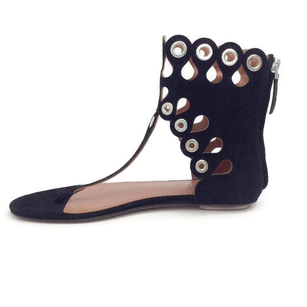 Cut Out Grommet Sandals by Alaïa inside