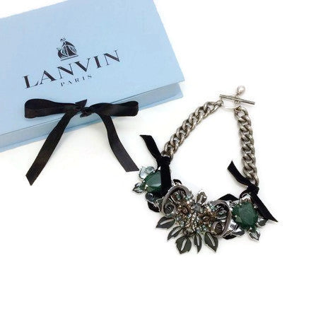 Jeweled Ram Necklace by Lanvin with box