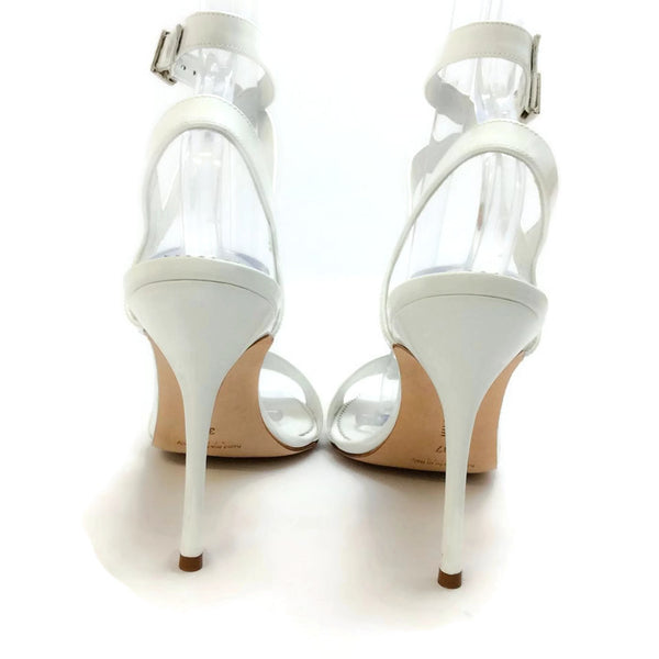 Llonicabi 105 White Patent Sandals by Manolo Blahnik back