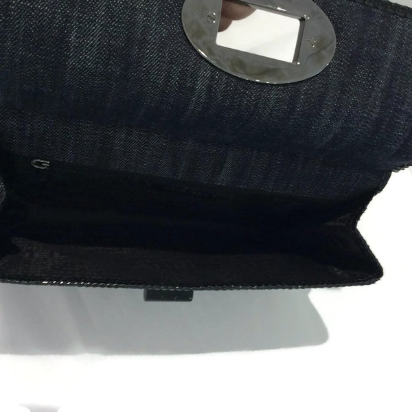 Dark Denim And Black Python Shoulder Bag by Chanel interior