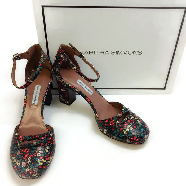Amelia Multi Floral Sandals by Tabitha Simmons with box