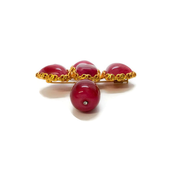 Vintage 1980's Gripoix Brooch by Chanel bottom