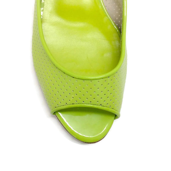 Anetina Lime Patent Leather Flats toe