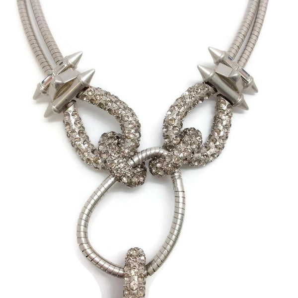 Silver and Crystal Statement Necklace by Alexander McQueen crystals