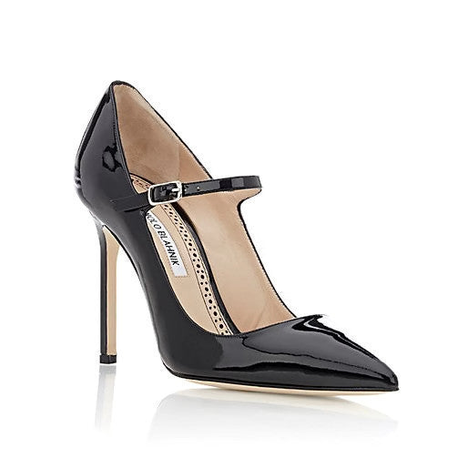 Brifa Black Patent Pumps by Manolo Blahnik