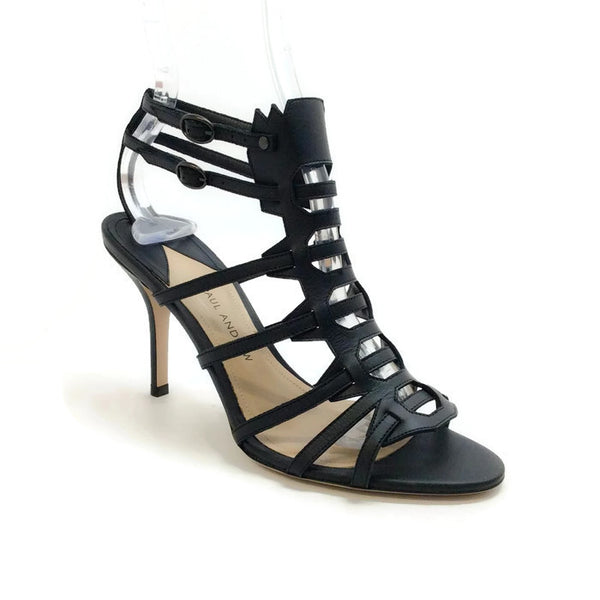 Attica Black Sandals by Paul Andrew