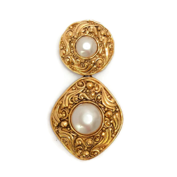 Vintage Gold Drop Brooch by Chanel