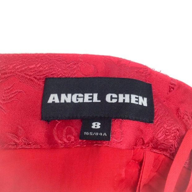 Angel Chen Red Jacquard Shorts