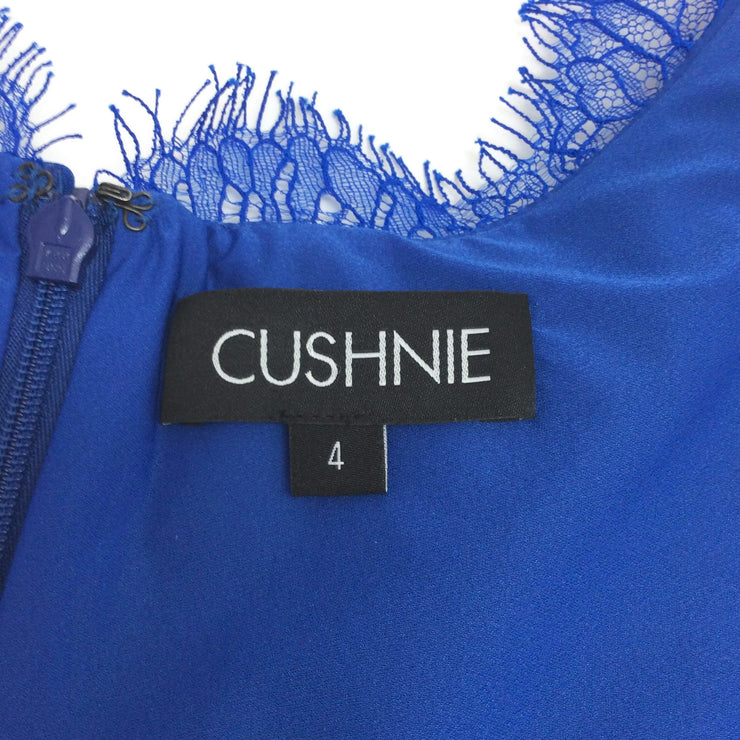 Cushnie et Ochs Cobalt Lace Trim Dress