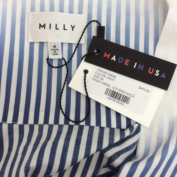 MILLY Navy Finley Dress