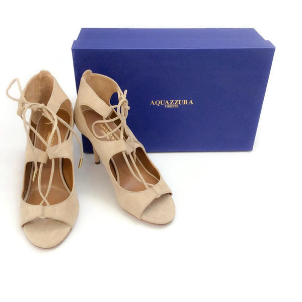 Christy 85 Nude Pumps by Aquazzura with box