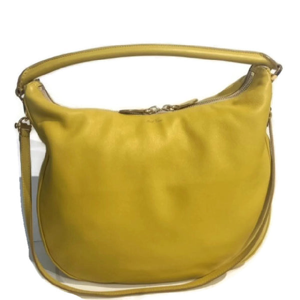 Limited Edition Yellow Satchel by Mark Cross with strap