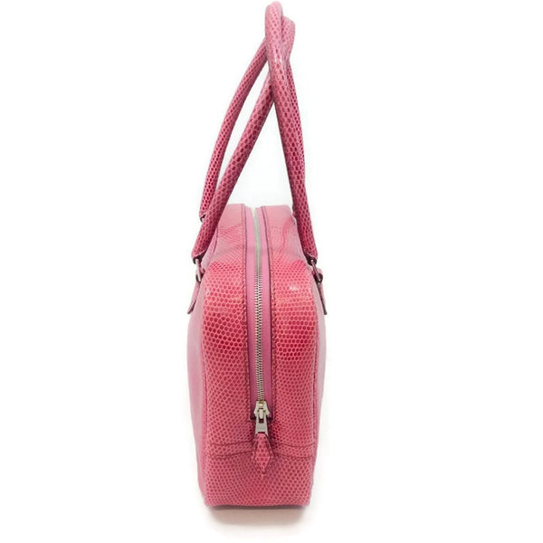 Plume 20 Pink Satchel by Hermès right side
