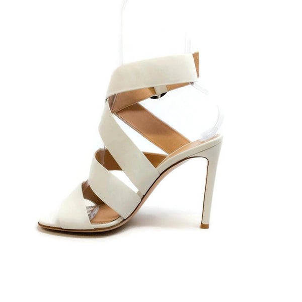 Ankle Wrap Off White Sandals by Gianvito Rossi inside