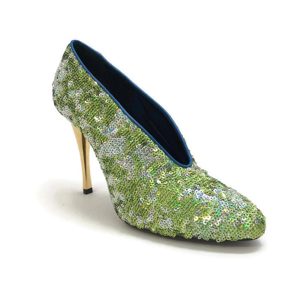 Sequin Pump Green by Lanvin