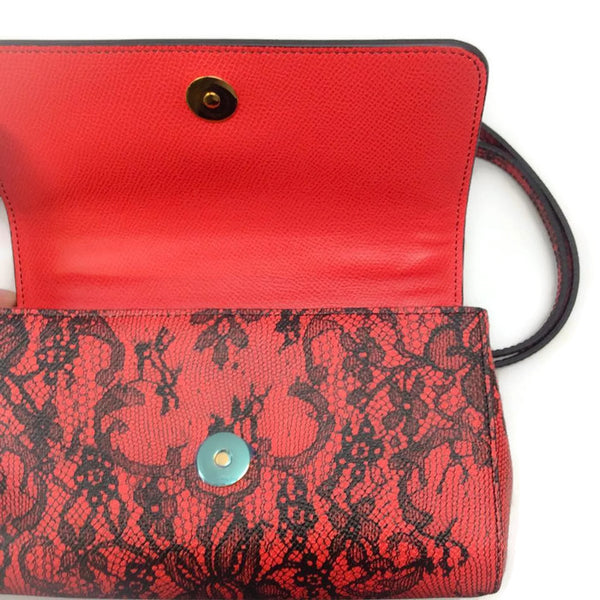 Miss Sicily Micro Dauphine Shoulder Bag by Dolce & Gabbana snap closure