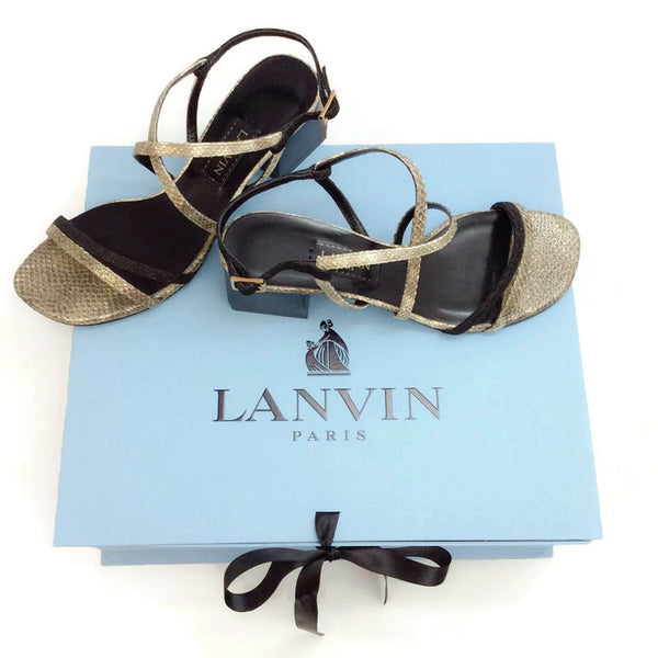 Silver Snake Sandal from Lanvin with box