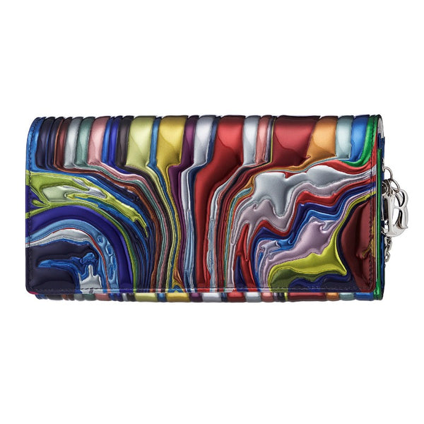 Christian Dior x Ian Davenport Collaboration Metallic Multi Clutch