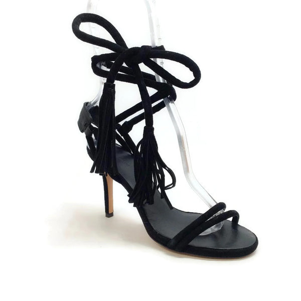 Amina Black Sandal by Isabel Marant