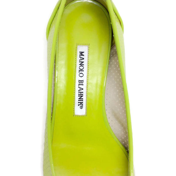 Anetina Lime Patent Leather Flats logo