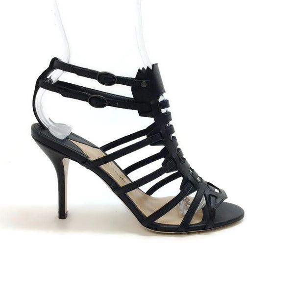 Attica Black Sandals by Paul Andrew outside